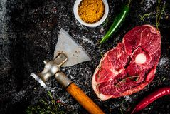 Lamb tenderloin with spices Royalty Free Stock Images