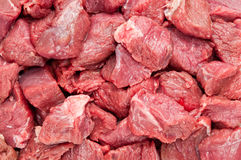 Fresh raw meat pieces. Background of fresh raw meat pieces Stock Photography