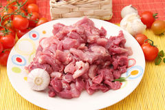 Fresh raw meat. On a plate Stock Photography