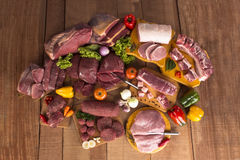 Fresh Raw Meat and pork Royalty Free Stock Images