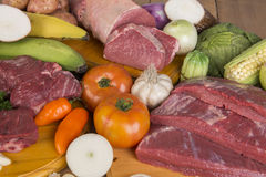 Fresh Raw Meat and pork Stock Photography