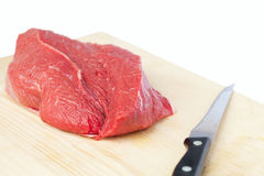 Fresh raw meat. Preparation of fresh raw meat Royalty Free Stock Photography