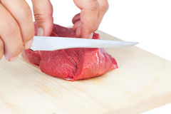 Fresh raw meat. Preparation of fresh raw meat Stock Photography