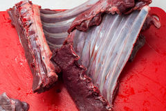 Fresh and raw meat. Ribs and pork chops uncooked Royalty Free Stock Photography