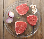 Fresh and raw meat Royalty Free Stock Images