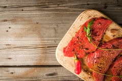 Fresh raw meat. Royalty Free Stock Photography