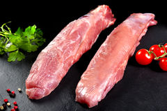 Fresh and raw meat. Still sirloin. Grilled meat or grilled Stock Photo