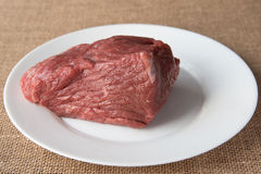 Fresh raw meat. Raw meat on the table Royalty Free Stock Photo