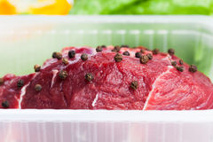 Fresh raw meat. And vegetables Stock Photos
