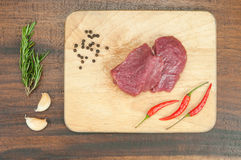 Fresh  raw meat. And vegetables Stock Photo