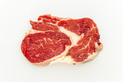 Fresh raw meat. On white background Royalty Free Stock Photo