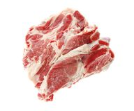 Fresh raw meat. On white background Stock Photography