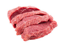 Fresh raw meat on a white background. Fresh raw meat isolated on a white background Royalty Free Stock Photography