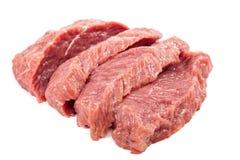 Fresh raw meat on a white background. Fresh raw meat isolated on a white background Stock Photo