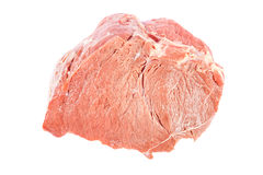 Fresh raw meat on a white background. Fresh raw meat isolated on a white background Stock Photography