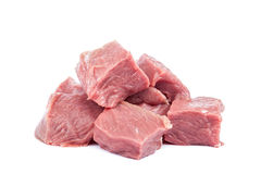 Fresh raw meat on a white background. Stock Photo
