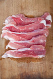 Fresh raw meat. On wooden background Stock Images