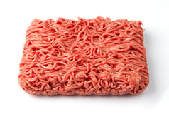 Fresh raw minced beef meat. Close up of raw minced beef meat Stock Image
