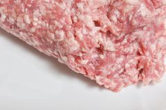 Beef and pork raw minced meat royalty free stock photo