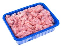 Fresh raw minced meat for cooking. Studio Photo Royalty Free Stock Photography