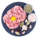 Fresh raw minced meat for cooking. Studio Photo Royalty Free Stock Image