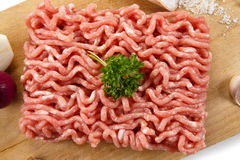 Fresh raw minced meat Stock Photos