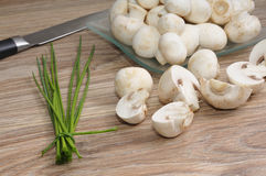 Fresh raw mushrooms Stock Photo