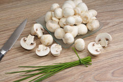Fresh raw mushrooms Royalty Free Stock Photos