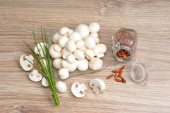 Fresh raw mushrooms Royalty Free Stock Image