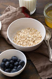 Fresh raw oat flakes. Healthy food Stock Image