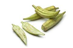 Fresh raw okra Stock Image