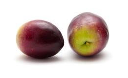 Fresh raw olives. Isolated on white Stock Image