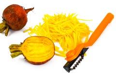 Fresh Raw Orange Beetroot, Beet. Studio Photo Royalty Free Stock Photos