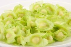 Fresh and Raw Organic moringa seeds Stock Photos