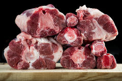 Fresh and raw oxtail cut Stock Photos