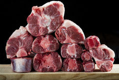 Fresh and raw oxtail cut Stock Photo