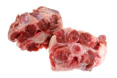 Fresh Raw Oxtail Royalty Free Stock Photography