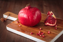 Fresh raw pomegranate. For an healthy nutrition Royalty Free Stock Image