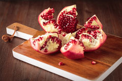 Fresh raw pomegranate. For an healthy nutrition Royalty Free Stock Photography