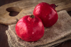Fresh raw pomegranate. For an healthy nutrition Royalty Free Stock Photos