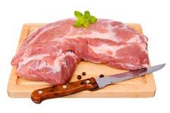 Fresh raw pork. Isolated on white background Stock Photo