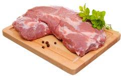 Fresh raw pork. Isolated on white background Royalty Free Stock Image