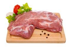 Fresh raw pork. Isolated on white background Royalty Free Stock Images