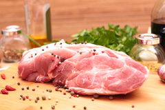 Fresh Raw Pork Chop Royalty Free Stock Images