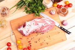 Fresh Raw Pork Chop Stock Photos