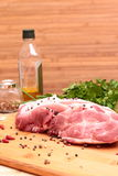 Fresh Raw Pork Chop Royalty Free Stock Photo