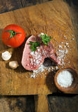 Fresh raw pork chops Stock Image