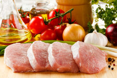Fresh raw pork Stock Photo