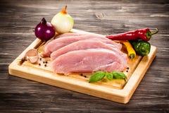 Fresh raw pork Royalty Free Stock Photos