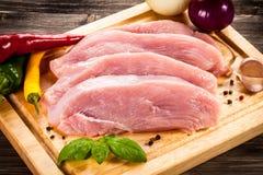 Fresh raw pork Stock Images